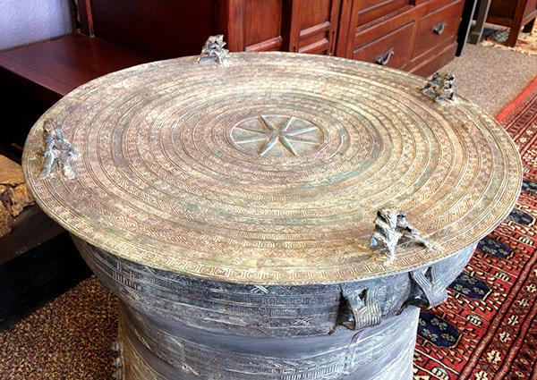 Rain Drums Burmese Frog Drums Bronze Tables
